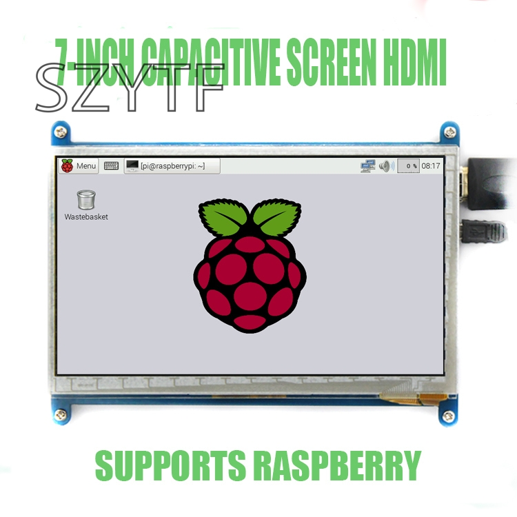<font><b>7</b></font> <font><b>inch</b></font> <font><b>LCD</b></font> display display 800X480 for Raspberry Pi3 image