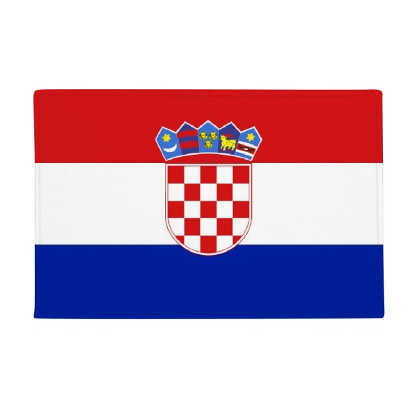 Croatia National Flag Europe Country Anti-slip Floor Mat Carpet Bathroom Living Room Kitchen Door 16x30Gift