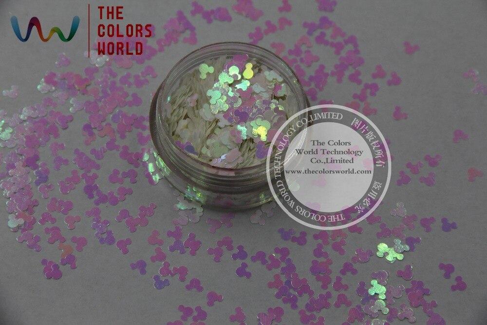 Tci03 Perlglanz Indescent Weiß Rosa Licht Farben Mickey Mouse Form Glitter 4,0 Mm Größe Glitter Für Nail Art Gel Make-up Komplette Artikelauswahl Schönheit & Gesundheit Nagelglitzer