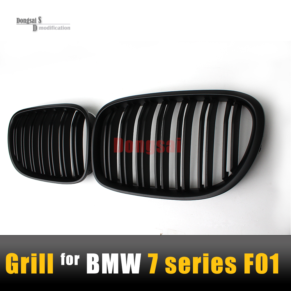 7 Series F01 Strong ABS Dual Slats Matte Black Grill For BMW 2008 - 2015 F02 F03 F04  Hood Racing Front Bumper Racing Grille car front bumper mesh grille around trim racing grills 2013 2016 for ford ecosport quality stainless steel