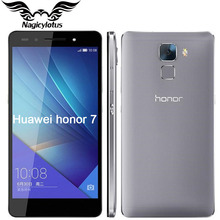 "Original Huawei Honor 7 Mobile Phone Hisilicon Kirin 935 Octa Core FDD LTE 4G Android 5.0 5.2"" 1920*1080P 20MP 3GB RAM Touch ID"