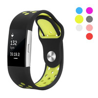 Fashion Watch Band Silicone Strap For Fitbit Charge 2 Bands Diamond Heart Rate Smart Bracelet Stainless