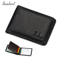 Zuoerdanni Genuine Leather Men S And Women S Tri View Driving License Bag And ID Holder