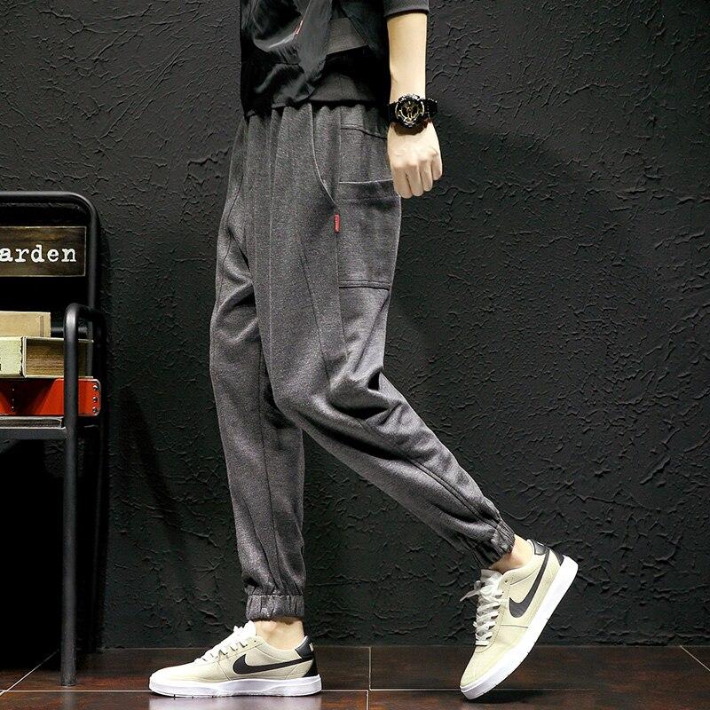 Grande taille 5XL mâle Harem pantalon confortable 2017 lâche corée Chic crayon pantalon décontracté automne taille élastique pantalon MK0085