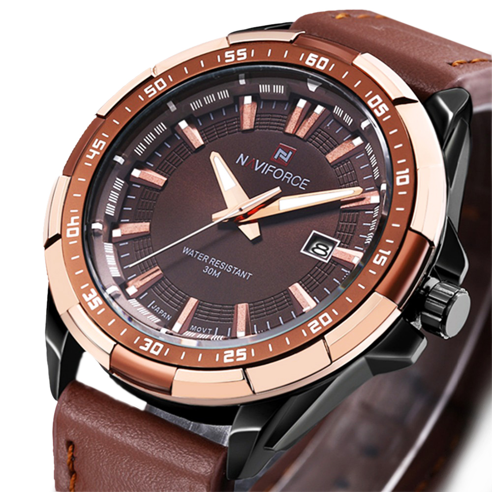 Naviforce Mens Watches Top Brand Luxury Men Quartz Watch Waterproof Sports Military Watches Men Leather relogio masculino 2017 classic simple star women watch men top famous luxury brand quartz watch leather student watches for loves relogio feminino