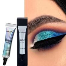 10ML Glitter Eyeshadow Primer makijaż oczu baza kremowy płyn baza pod cienie do powiek płynny cień do powiek na imprezę
