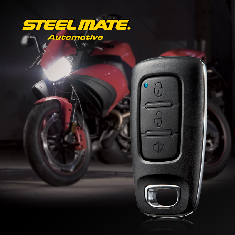 Steelmate 886E 1 Way Motorcycle Alarm Auto Scooter Safty System Remote Control Motorbike Engine Immoblized Moto Signaling
