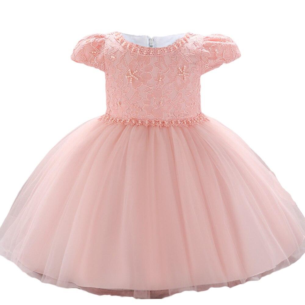 ba1ea9bc8de Vestido de fiesta de flores para bebés, niñas, niños, 1 año, bebé,  cumpleaños, Navidad, Año Nuevo, niña, Princesa, encaje vestidos
