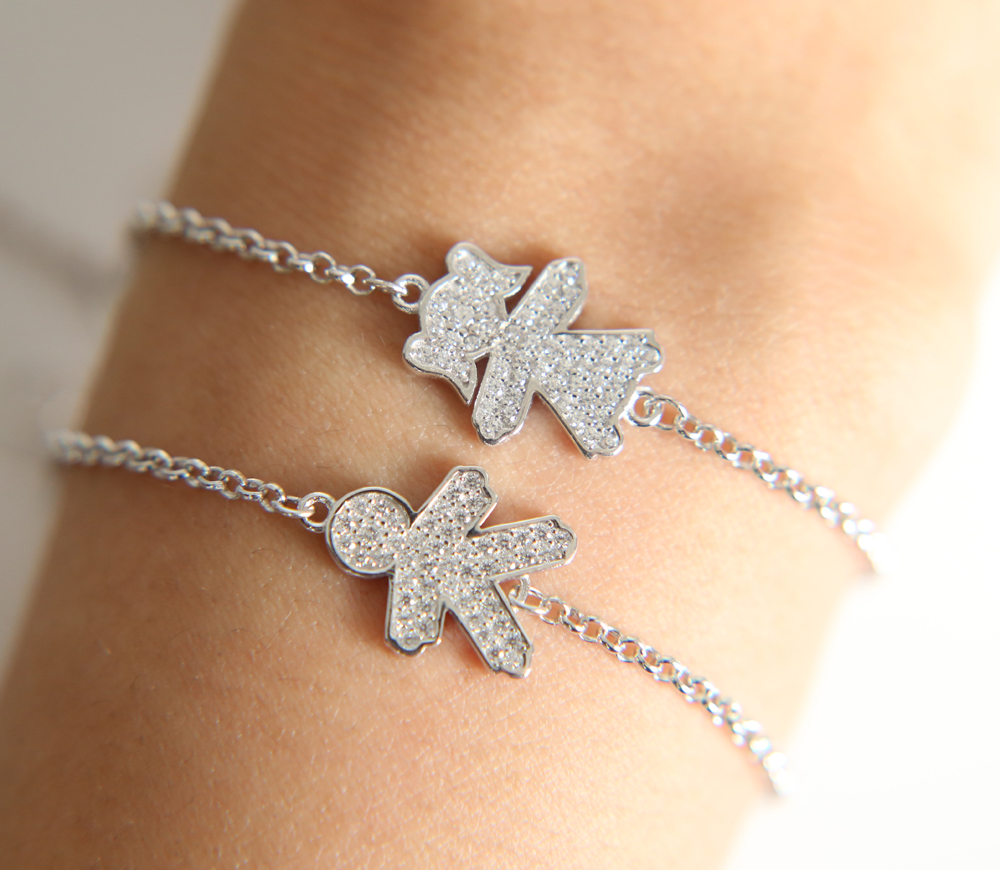 2017 Russia Fashion elegant micro pave heart arrow cubic zirconia cz bling sparking Cute girl boy charm chain dainty bracelet