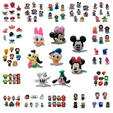 9e3ed2f47b6a 4-8pcs Cartoon PVC Shoe Charms Finding Dory Mickey Game of Thrones Doctor  Who Accessory