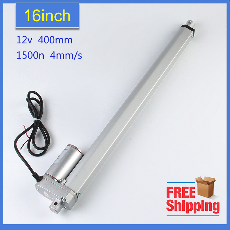 Freeshipping 400mm Stroke Heavy duty DC 12V 1500N/150kgs/330lbs Load Linear Actuator multi-function 16 Electric Motor 400mm multi function linear actuator motor stroke heavy duty dc 12v 75kg 165lbs reliable performance