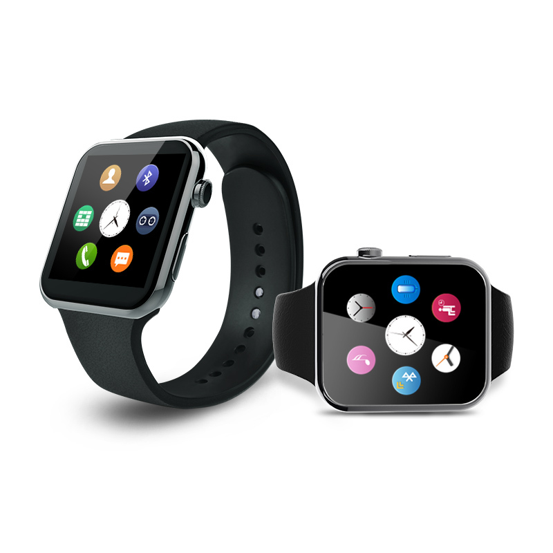 A9 Gold Men Watch Smart Watch for Apple iPhone 6 5s 5C 5 Wristwatch for Samsung