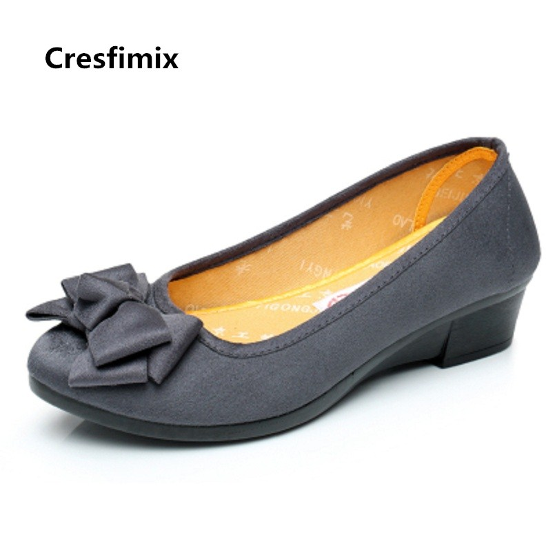 Cresfimix women fashion comfortable slip on bow tie flat shoes lady retro hotel work black shoes cute ballet dance shoes a3123 cresfimix femmes appartements women fashion comfortable mesh breathable flat shoes lady cute beige bow tie shoes zapatos b2859