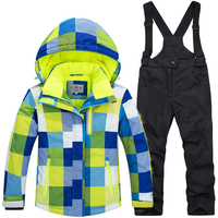 Kids Ski Suit Children Windproof Waterproof Colorful Girls For Boy Snowboard Snow Jacket And Pants Winter Dress