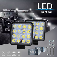 2700LM 4800LM high-bright square work light for ATVs, off-ro