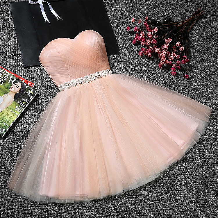 New short sweat grey lady girl women princess bridesmaid banquet party dress gown free shipping