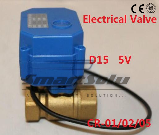 12v DN15 stainless steel motorized ball valve electric ball valve 1/2 , 2 way,CR01/CR05,Free Shipping shipping free dc5v 1 stainless steel electric ball valve dn25 electric motorized ball valve 2 wires cr01 wiring