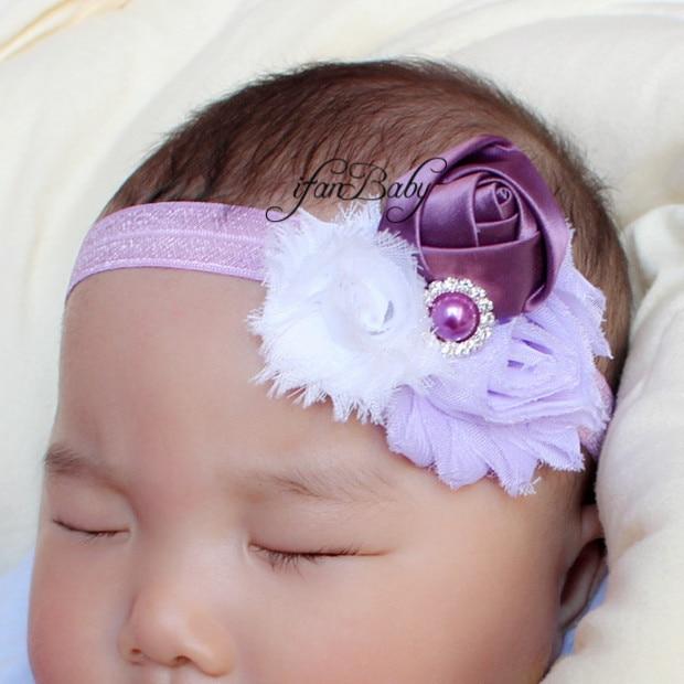 Shabby Lace Baby Headband Chic Flower Girls Headband Hair Bow Flower  Headband for Baby Girl Children 62fdd19a0d13