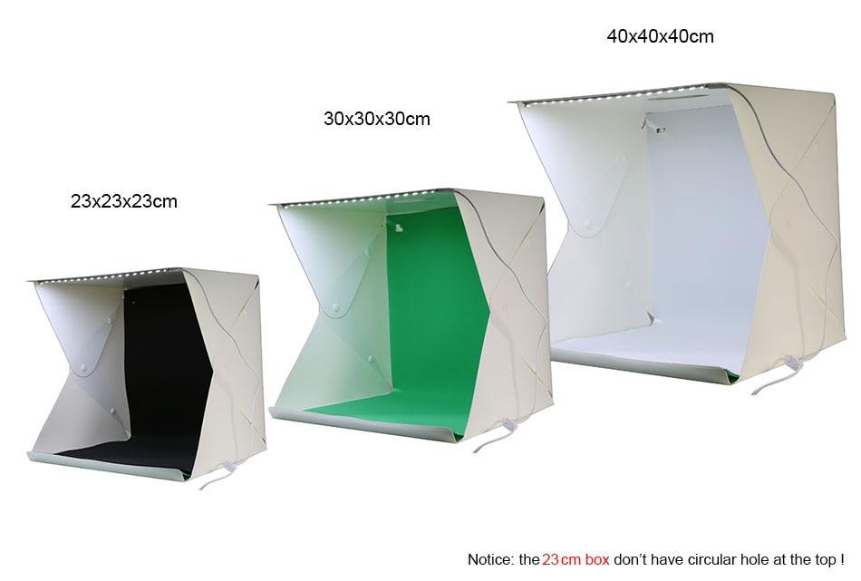 NUEVO Mini LED Estudio de luz plegable Difuso Caja blanda Disparos de - Cámara y foto - foto 2