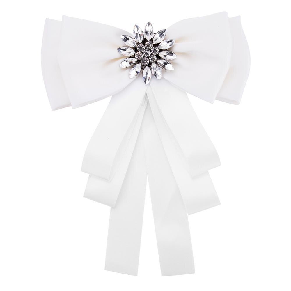 Роскошный фирменный дизайн, бант, лента, броши, булавки, милые 2019 для женщин, цветок, кристалл, холст, ткань, галстук, галстук, воротник, корсаж, бант