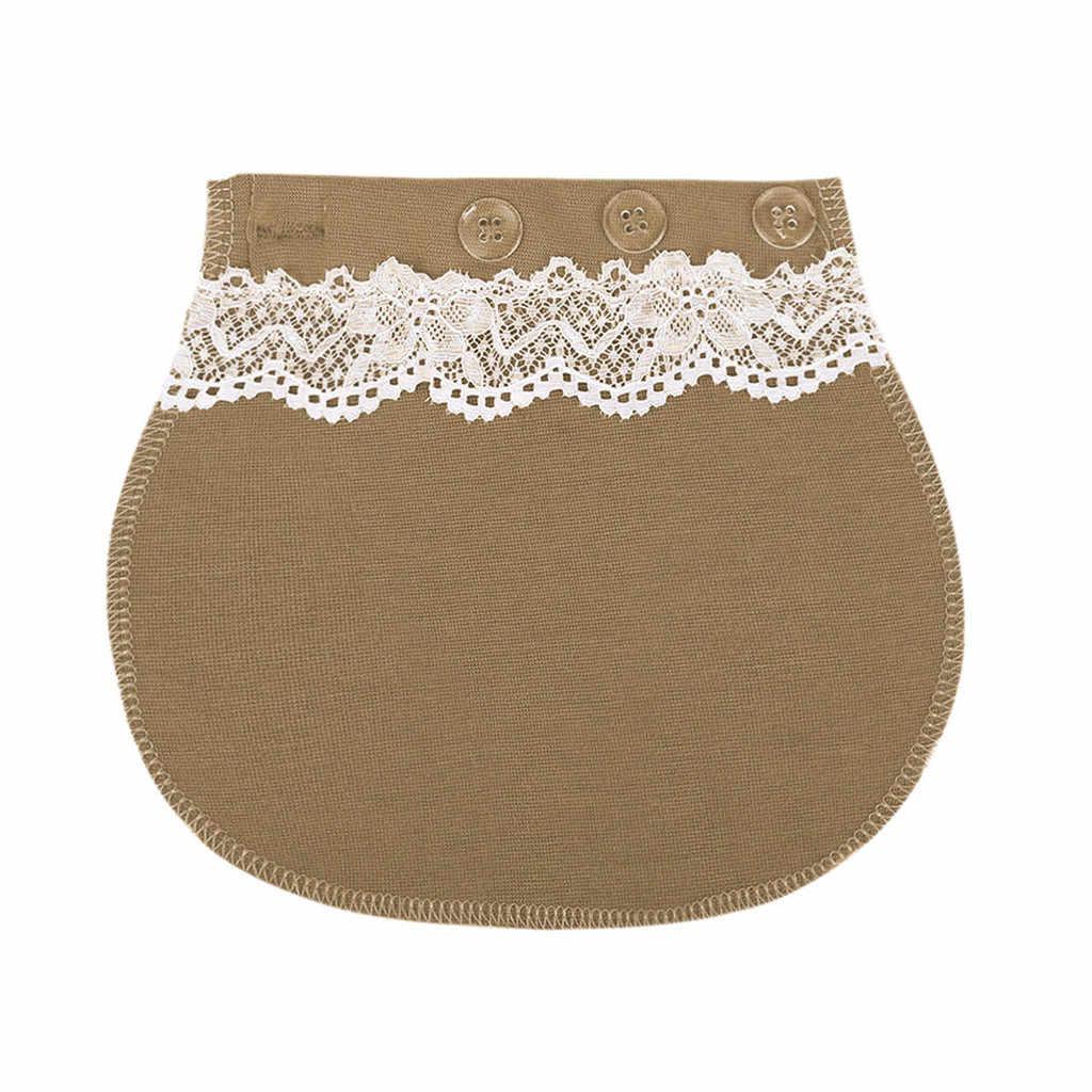 Muqgew calças para grávidas gravidez cintura extensor ajustável elástico cintura ceinture abdominale
