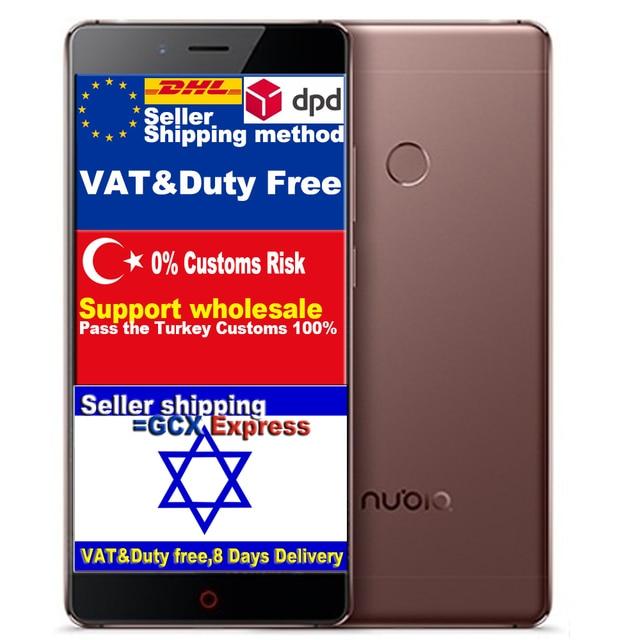 "ZTE Nubia Z11 Qudcomm Snapdragon 820 Quad Core CPU Телефон 4 Г RAM 64 Г ROM 5.5 ""FDD LTE Android OS 3000 мАч FHD 16MP Камера"