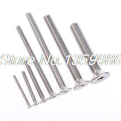20Pcs Flat Head Drive Hexagon Socket Screw M8X25 Made of SUS304 Standard Metal