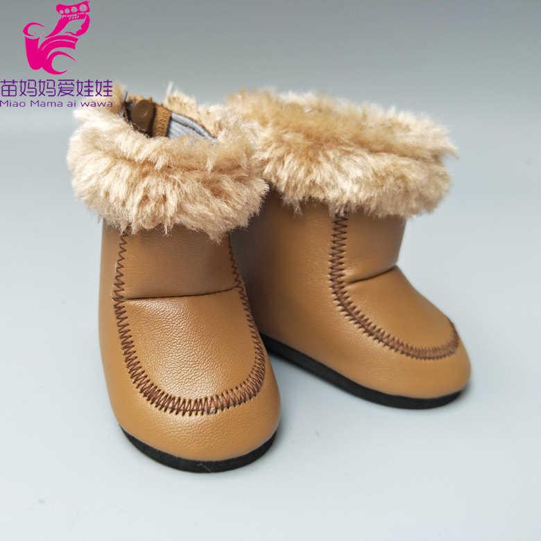 Para zapatos de muñeca 43cm botas de muñeca 18 pulgadas niños niñas 7,5 cm zapatos de muñeca bebe