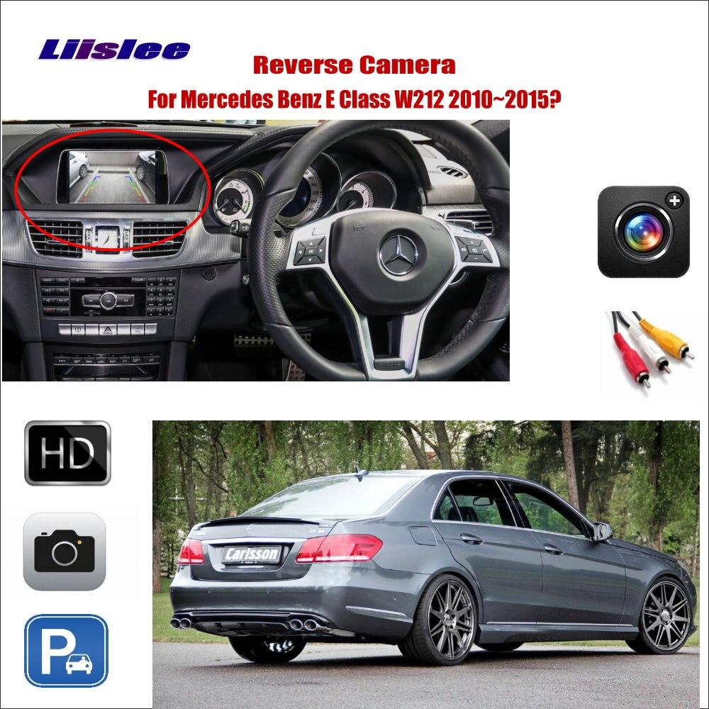 Liislee For Mercedes Benz E Class W212 2010~2015 Car Reverse Rear View Camera / Connect Original Factory Screen / RCA Adapter