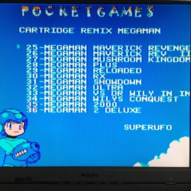 MegaMan1-6 English&Japanese 72 Pins game Cartridge for NES 5