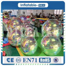 high quality Inflatable floating mirror balloon,PVC inflatable mirror ball for advertising cute inflatable advertising duck