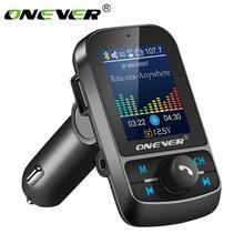 """Onever FM передатчик 1,"""" Цвет Экран AUX модулятор Bluetooth Беспроводной MP3 радио адаптер, автомобильный набор свободные руки, 5V 3.1A USB Зарядное устройство TF карты"""