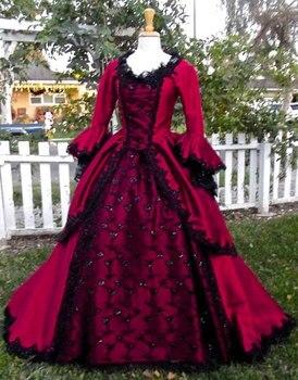 R-474 hecho a medida 1860 S guerra Civil gótico lolita princesa vestido/vestidos victorianos/vestido del Renacimiento disfraces Vintage