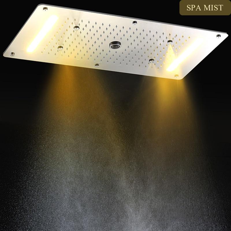 Luxus Badarmaturen luxus badarmaturen zubehör led großen regen wasserfall nebel spalte