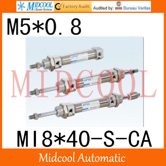 MI Series ISO6432 Stainless Steel Mini Cylinder  MI8*40-S-CA bore 8mm port M5*0.8 купить в екатеринбурге переходник mini iso