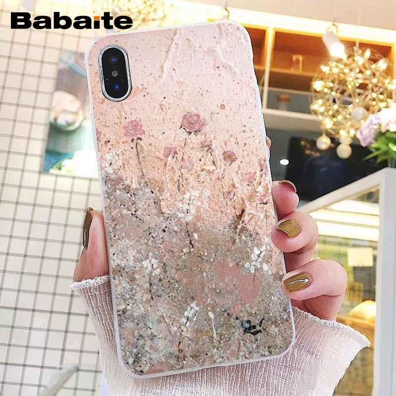 Babaite oro rosa funda de teléfono con corazón de amor para iphone 11 Pro 11Pro Max 8 7 6 6S Plus X XS X MAX 5 5S SE XR