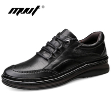 MVVT Retro Genuine Leather Shoes Men Oxfords Top Quality Casual Flats FootWear Handmade Outdoor Safety