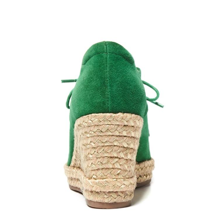 Negro Zapatos verde 2018 Tacones De {zorssar} Cuñas Nueva Moda Bombas Gamuza Punta Mujer Casual qa7AwpC
