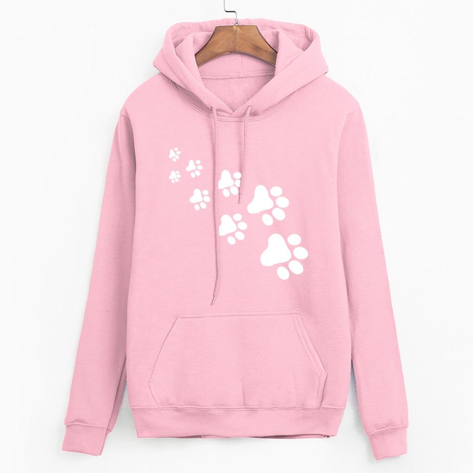 Trustful 2019 Women Harajuku Pink Hoodies Novelty Monkeys Band Print Top Sweatshirt Autumn Hipster Fitness Suits Femme Brand Top Women's Clothing