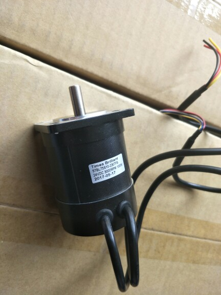 57 DC brushless motor 24V 100W 3000rpm 0.32N.M Body length 75mm