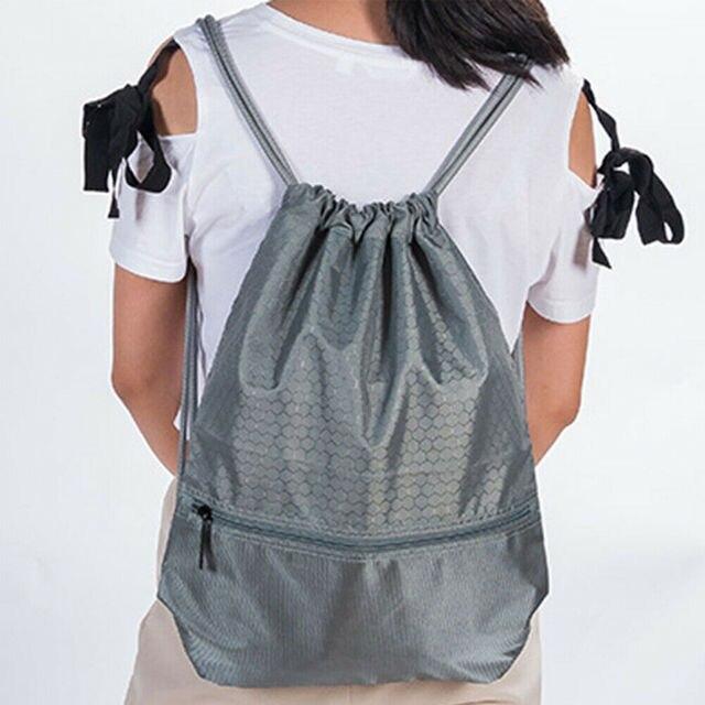 2019 Newest Hot Man Women Polyester String Drawstring Back Pack Cinch Sack Gym Tote Bag School Sport Bag 2