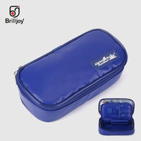 Brilljoy Portable Insulin Cooler Bag Diabetic Insulin Travel Case Cooler Box Bolsa Termica PU leather Aluminum Foil ice bag new