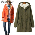 New 2016 Fashion Casual Parka Winter Jackets Women Coats Hooded Slim Cotton Coat Padded Warm Jacket Women Plus Size 4XL