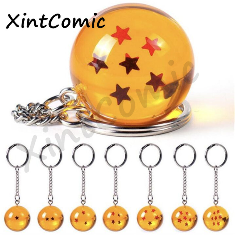 Wholesale Anime Fashion Dragon Ball Z Keychain Cosplay 7 Dragonball  Stars Crystal Ball Keyrings PVC Pendant Key Buckle