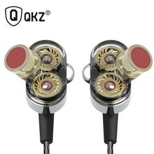 Qkz KD2 наушники audifonos двойной драйвер Fone де ouvido Auriculares оригинальных гибридных двойной Динамический драйвер-вкладыши Наушники гарнитуры