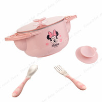3 piece Dinnerware Sets Disney Child Baby Assisted Dishes Use Water Temperature Adjustment Health Bottom Suction Cup Anti fall