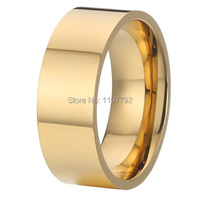 Discount Cheap 18k Gold Plating Ring Designs Pure Titanium Jewelry Wedding Band Promise Rings For Men