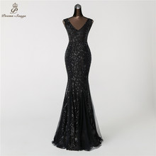 Вечернее платье Русалка Poems Songs с двойным V образным вырезом, платье для выпускного вечера, платье для официальной вечеринки, элегантное винтажное платье