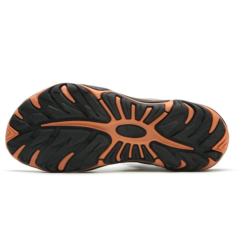 slip Anti En L'intérieur Confortable Hommes Réglable Casual dark Light Véritable Coton Cuir Sandales Étanchéité Gray À Misalwa Brown F5dqwvRF
