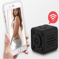 1080P HD WIFI Mini IP Camera HDQ9 Night Vision Motion Detect Mini Camcorder Loop Video Recorder Built in Battery Body Cam r20